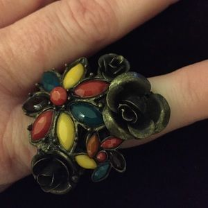 Vintage Stretchy Flower Ring